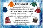 Coat Swap – Sat. Nov. 10th, 9am-3pm